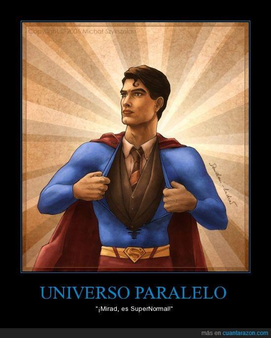 dibujo,superman,traje,universo paralelo