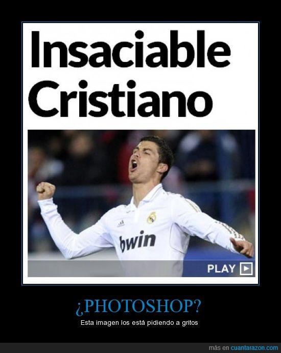 abierta,boca,Cristiano,foto,mano,Photoshop