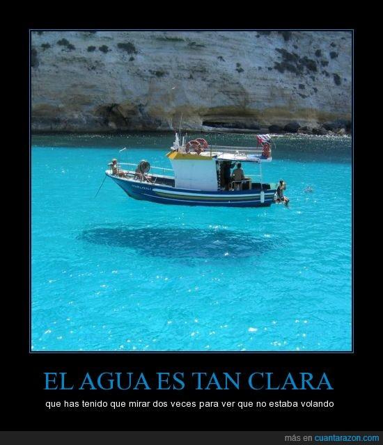 agua,barco,clara,dos,ilusión,limpia,mirar,veces,volar