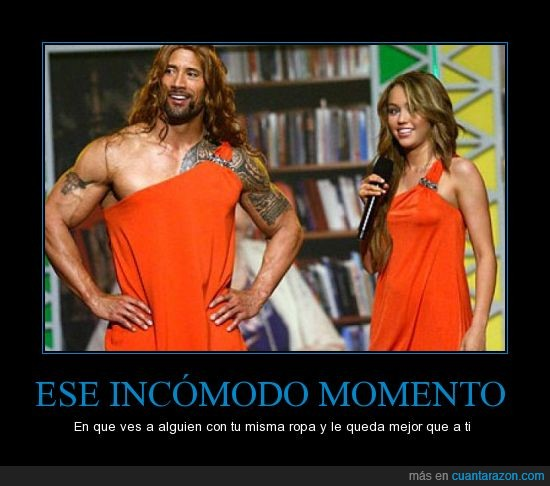 miley cyrus,the rock,vestido,wtf