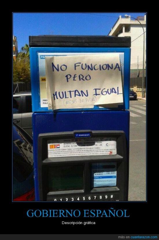 corrupción,españa,gobierno,maquina,multa,no funciona