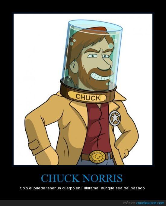 cabeza,Chuck Norris,cuerpo,futurama