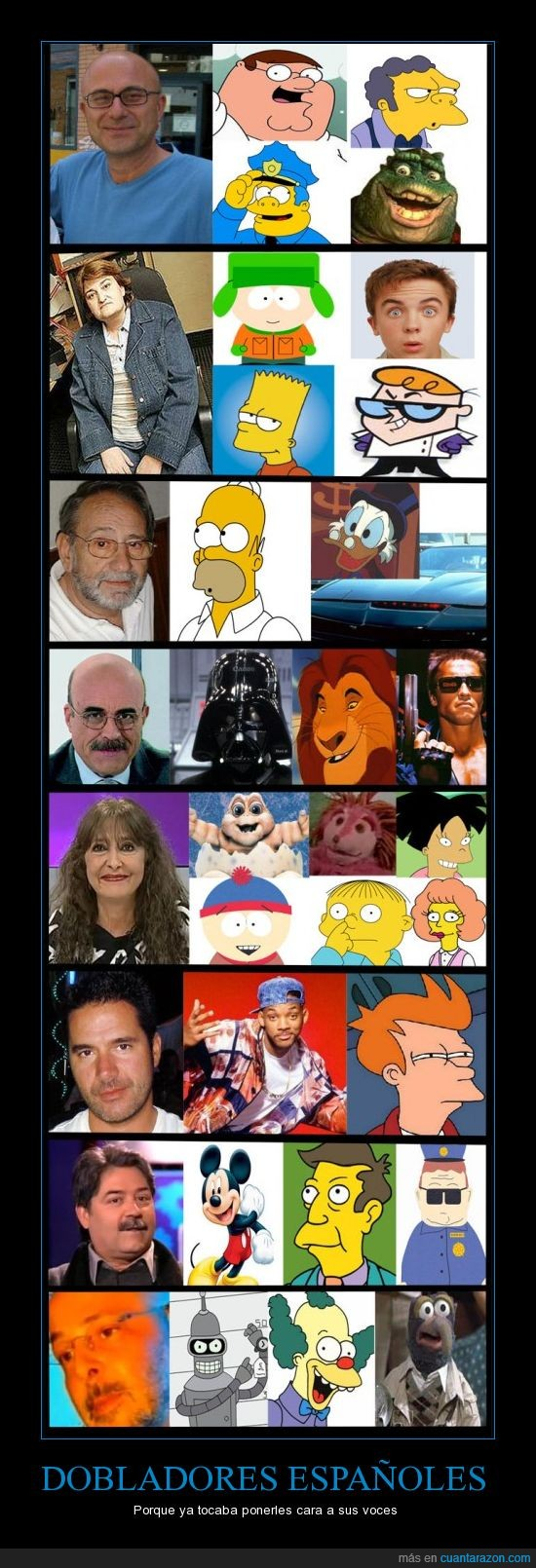 doblar,futurama,simpsons,south park,voces