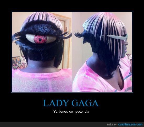 cabeza,competencia,lady gaga,ojo,peinado,pelo