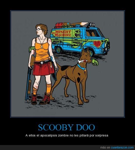 apocalipsis,perro,scooby doo,wilma,zombie