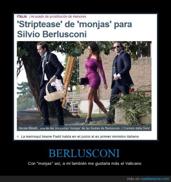 berlusconi,italia,monjas,político