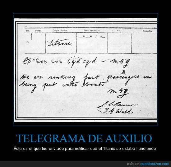 telegrama titanic dicaprio te amo