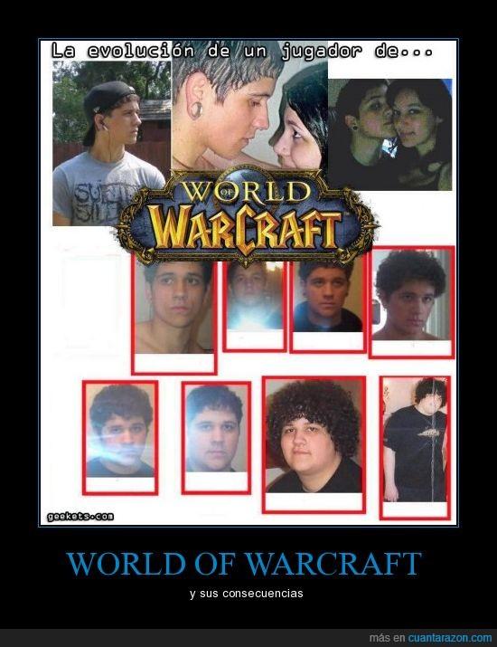 afro,antes,despues,evolucion,friki,gordo,guapo,novia,world of warcraft,wow