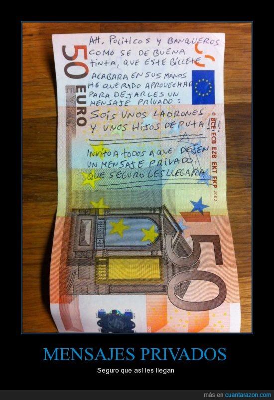 billete,dinero,ladrones,mensaje,políticos,privado,robar