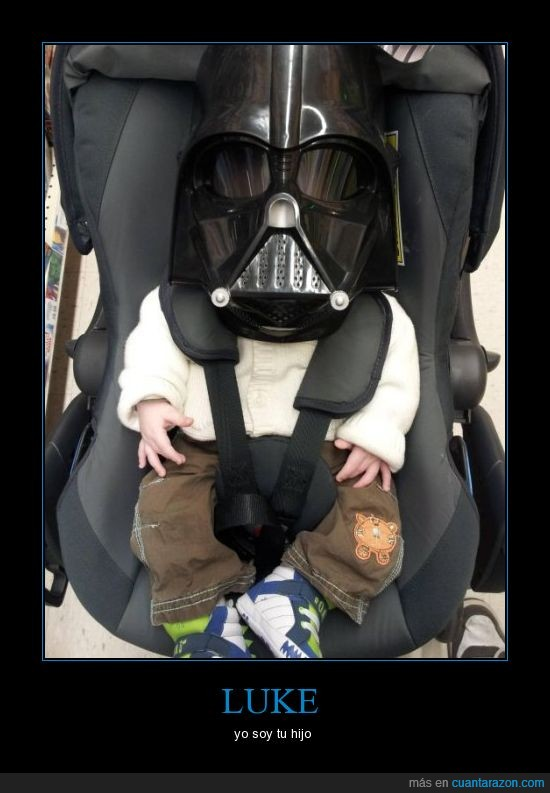 bebe,carro,casco,darth vader,star wars