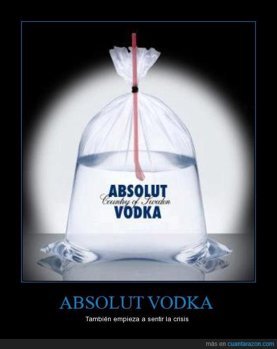 Absolut,bolsa,crisis,plástico,vodka