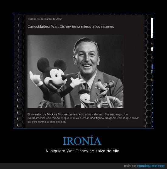 disney,ironia,mickey,miedo,ratones,walt