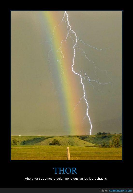 arcoiris,me quedo con su oro,muerte,rayo,relampago,thor