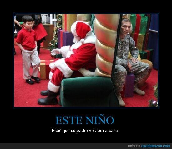 deseo,guerra,navidad,niño,padre,papá noel