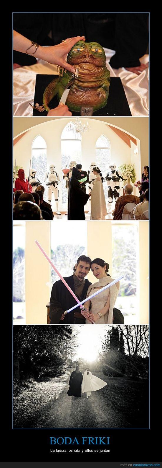 boda,friki,jabba,laser,pastel,sable,star wars
