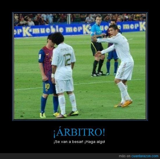 árbitro,cristiano ronaldo,fc barcelona,fútbol,marcelo,messi,real madrid