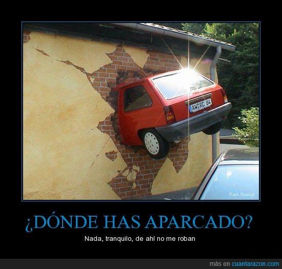 aparcar,coche,grand theft auto,hostia,pared,romper