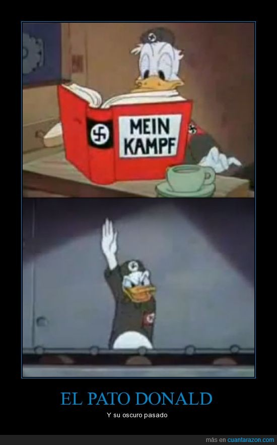 donald,hitler,mein kampf,nazi,pato