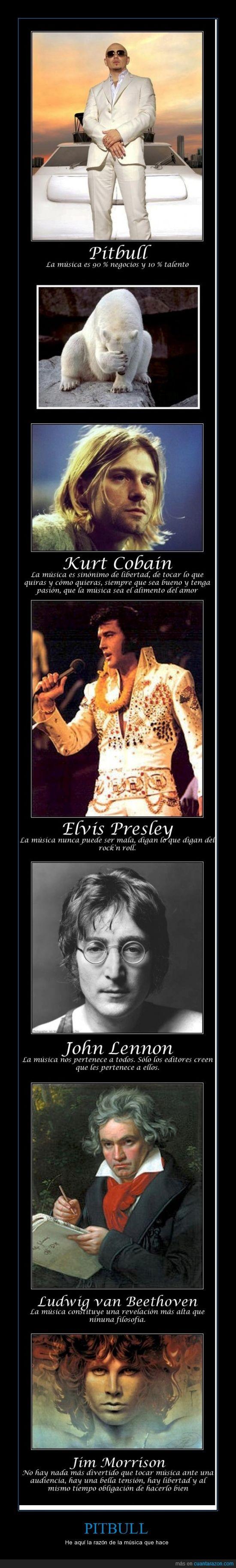 Beethoven,dinero,Elvis Presley,facepalm,fail,Jim Morrison,John Lennon,Kurt Cobain,negocios,Pitbull