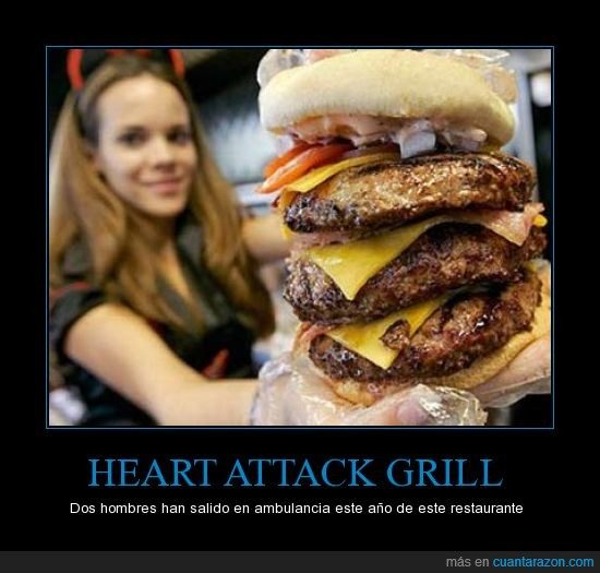 calorias,hamburguesa,Heart Attack Grill,muerte,record guinness