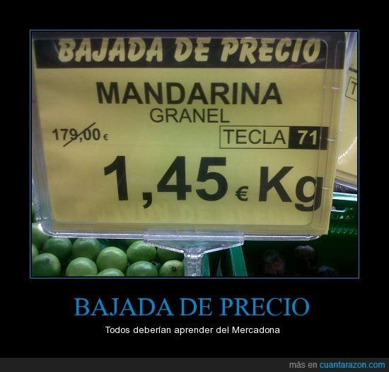 error,mandarinas,Mercadona,precios,rebaja
