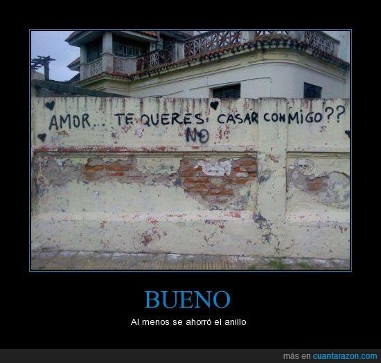 casar,graffiti,no,pregunta,respuesta