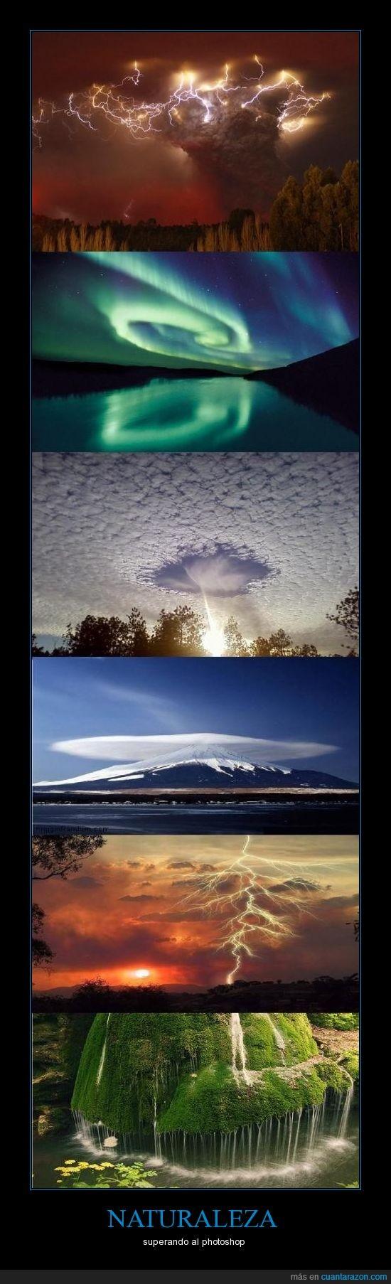 cascada,cielo,impresiona,naturaleza,nube,photoshop,rayo,verde