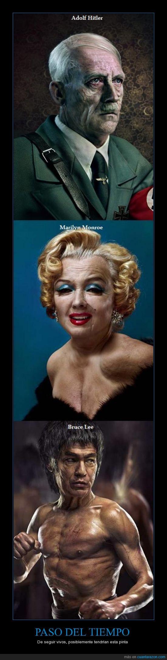actualmente,Adolf Hitler,ahora,Bruce Lee,Marilyn Monroe,viejos