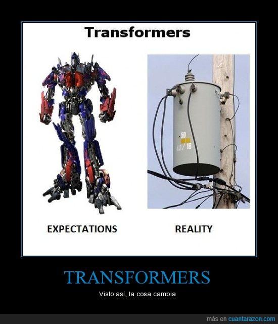 expectación,realidad,transformador,transformer