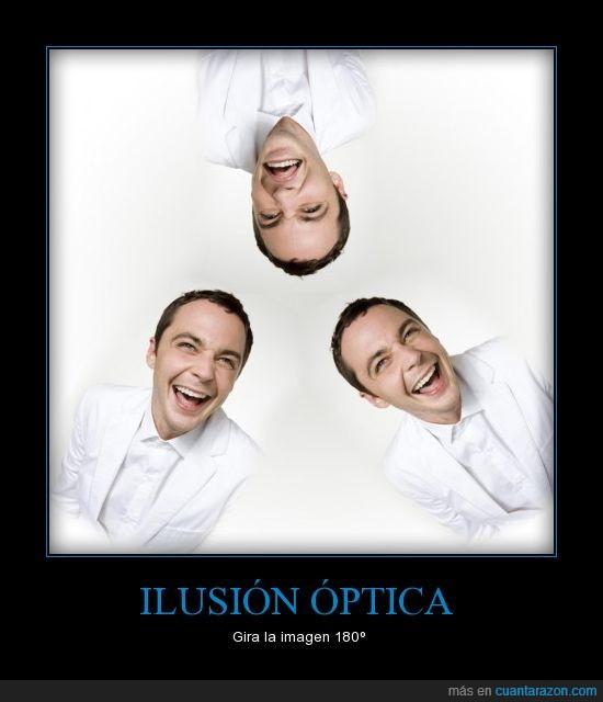 caras,ilusión óptica,sheldon cooper