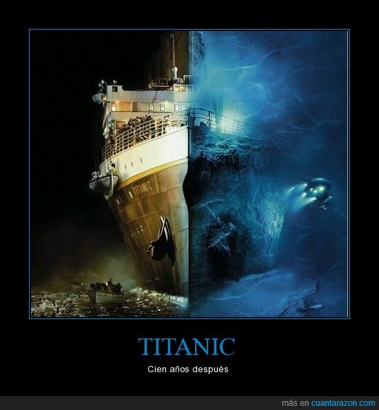 agua,ahora,antes,bajo,documental,ghosts of the abyss,mar,tapa,titanic