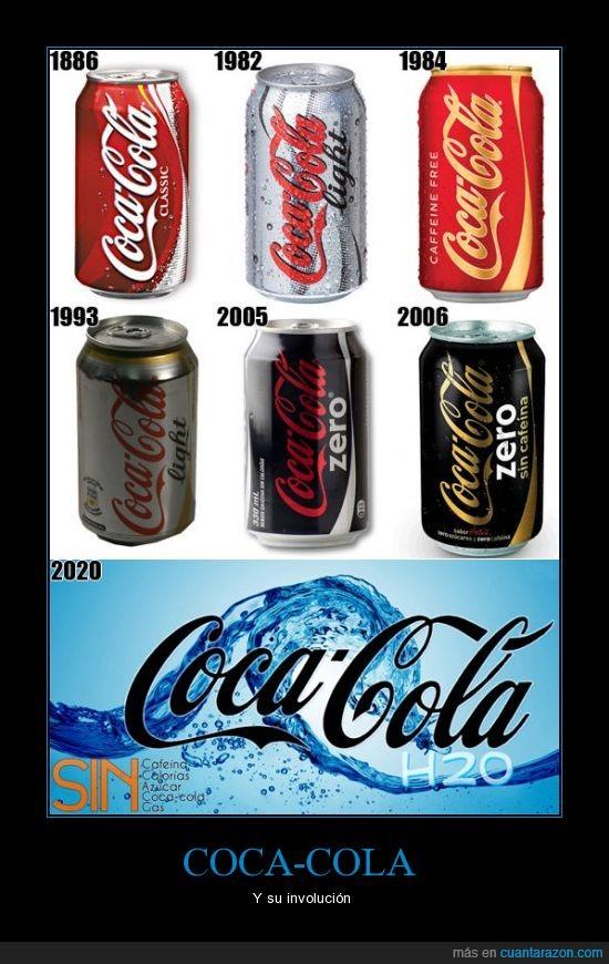 azúcar,cafeina,calorias,coca-cola,gas,involucion,ligth,sin,zero