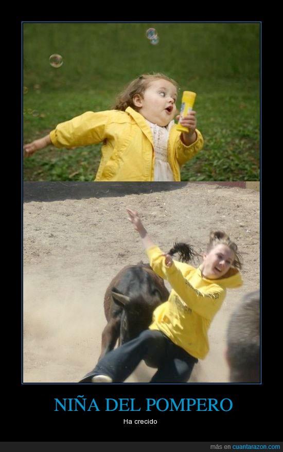 amarillo,chaqueta,mayor,meme,niña,pompas,pompero