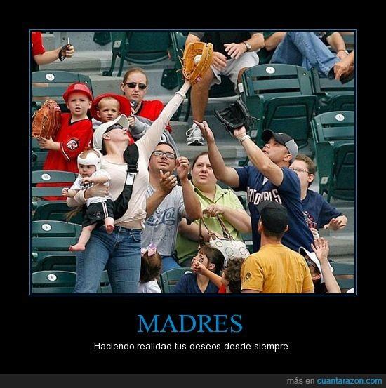 baseball,bebe,bola,casco,coger,felicitala que hoy es su dia,madre,mama