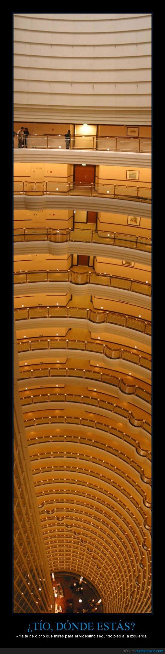 ascensor,dorado,escalera,hotel,mareo,muchos,pisos,vertigo