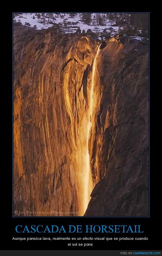 cascada,efecto visual,Horsetail,lava