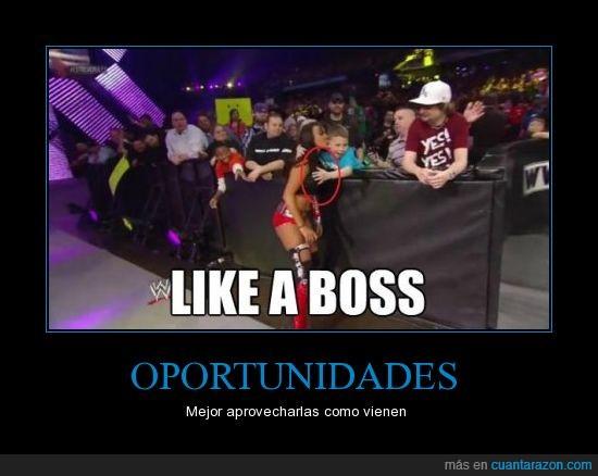 joder,like a boss,lucha libre,niño,tocar,wwe