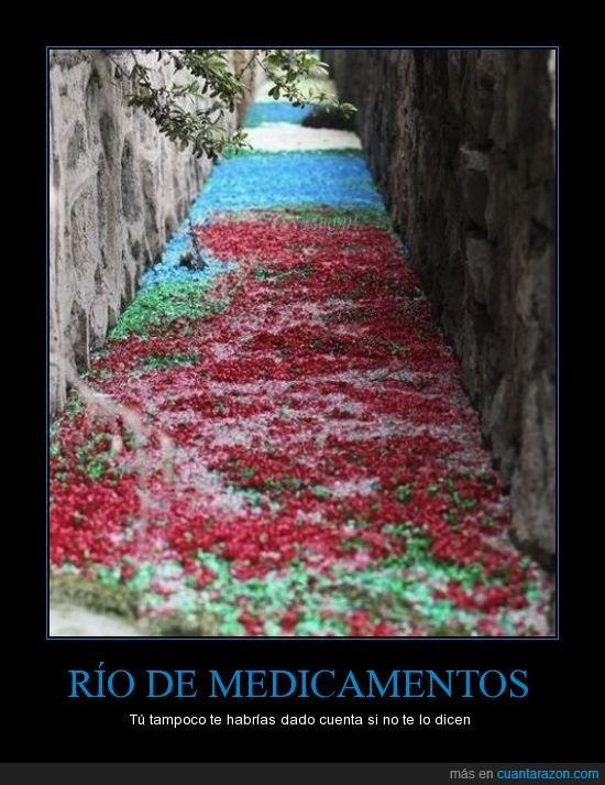 capsulas,contaminacion,medicamentos,pastillas,rio