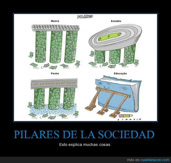 billetes,dinero,educación,pilares,transportes