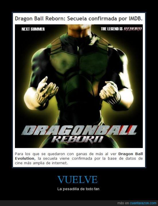 dragon ball evolution,dragon ball reborn,mierda de pelicula,volver