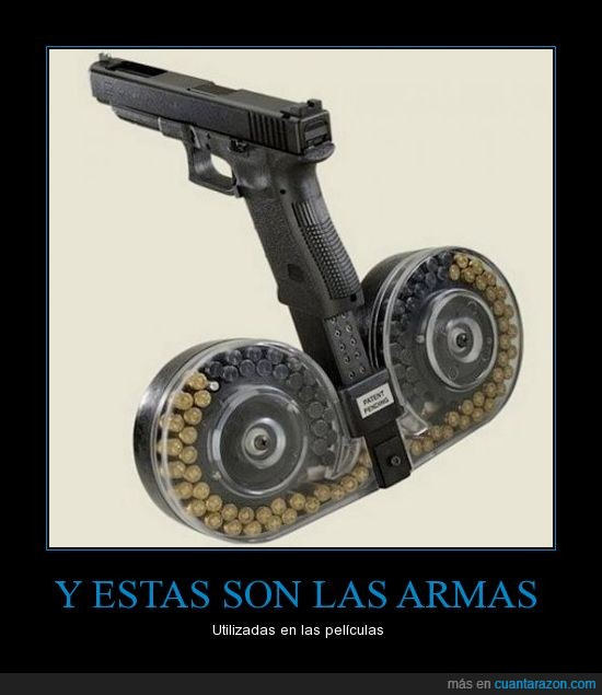 arma,carga infinita,infinite ammo,peliculas,zombies