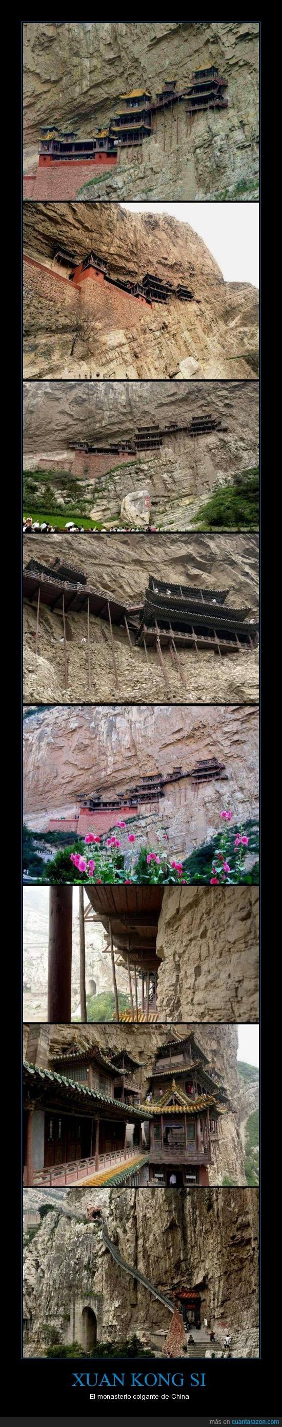 china,colgante,monasterio,monasterio suspendido,xuan kong si