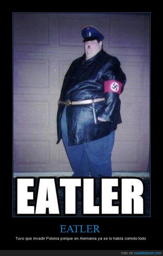 alemania,eatler,es de tiroides,gordo,hitler,nazi,obeso,polonia