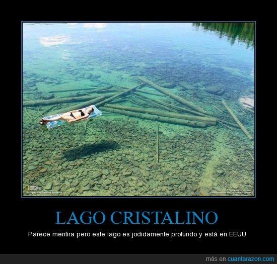 agua,cristalino,Lago,profundo,transparente,USA