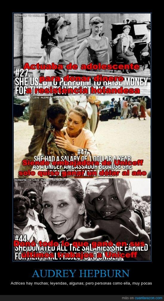 africa,Audrey Hepburn,dinero,pobres,uniceff