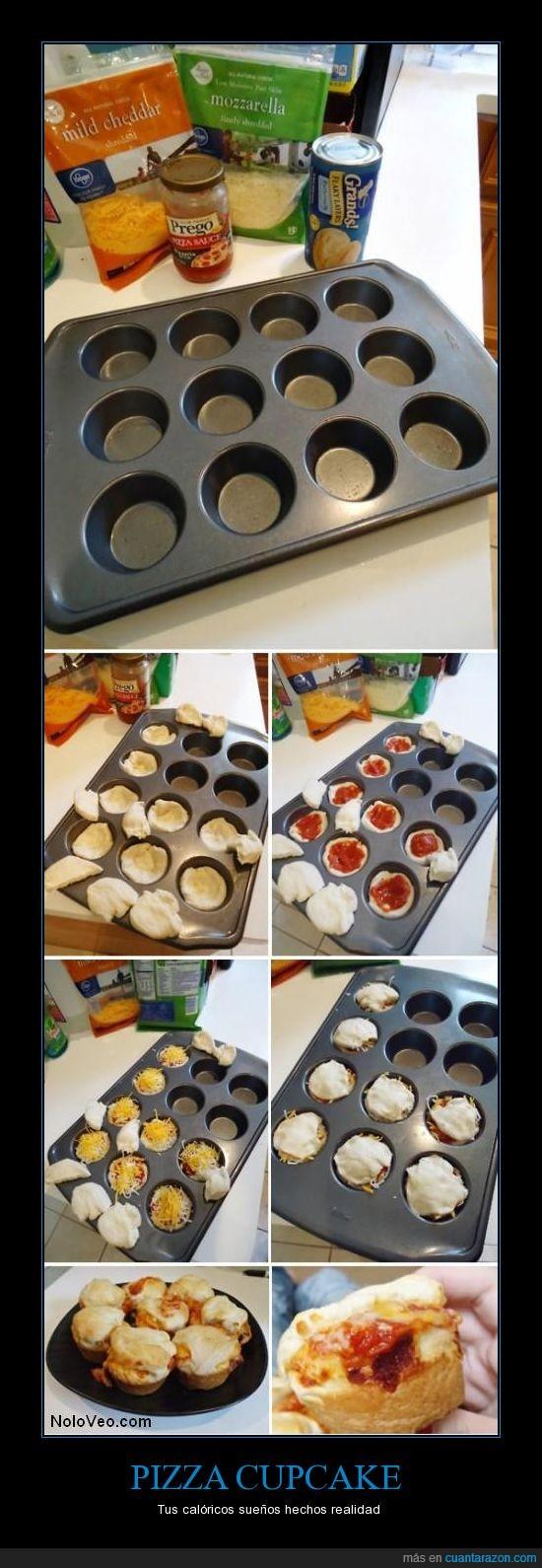 cupcake,madalena,pizza,queso,quiero probar esto