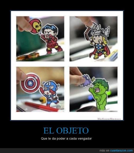 capitan america,hulk,iron man,objeto,thor,vengadores