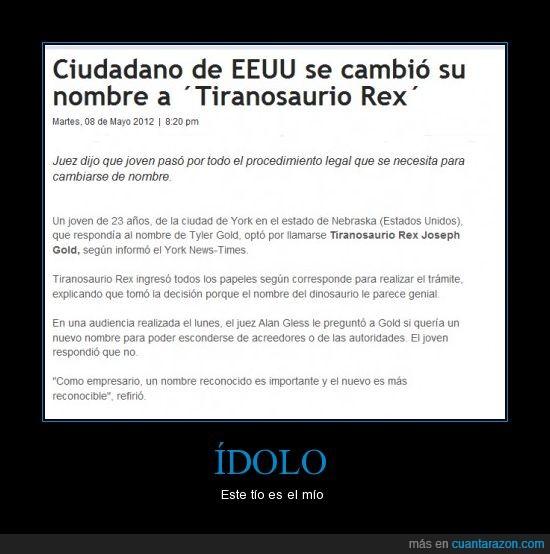 cambio,dinosaurio,nombre,nuevo,rex,t-rex we love you,tiranosaurio