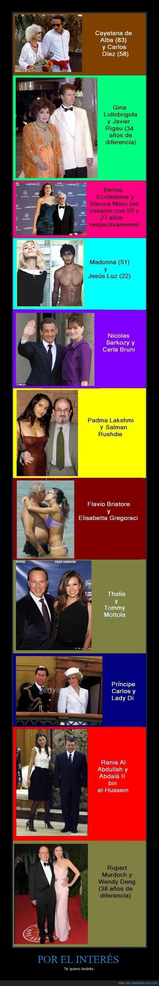 briatore,carlos,casados,cayetana,dinero,famosos,interés,madonna,principe,thalia