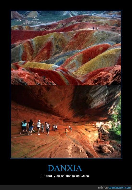 china,color,coloreadas,montañas,montañas de caramelo,paisaje increible,patrimonio